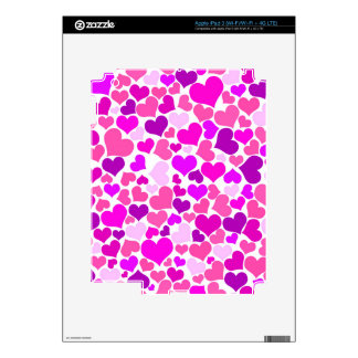 Pattern Monogram Confetti Hearts Cute Girly Pink Skins For iPad 3