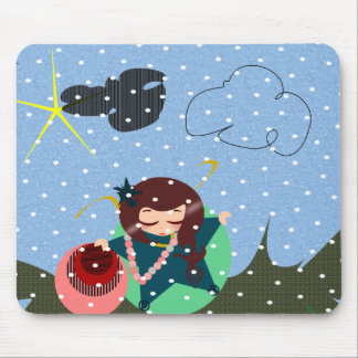 pattern mousepad with snow