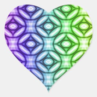 Pattern multicolored No. 20 Heart Sticker