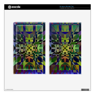 Pattern multicolored no 28 designed by Tutti Skins For Kindle Fire