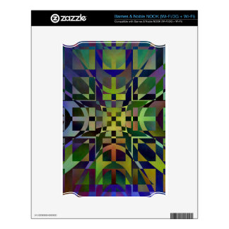 Pattern multicolored no 28 designed by Tutti Skin For The NOOK