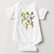 Pattern NO.2: Hanging Flowers Baby Jumpsuit Baby Bodysuit