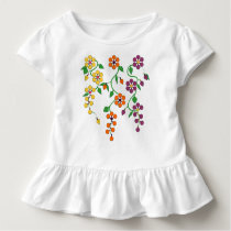 Pattern NO.2: Hanging Flowers Baby Ruffle Tee