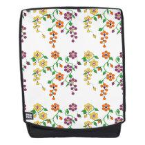 Pattern NO.2: Hanging Flowers Back Pack Backpack