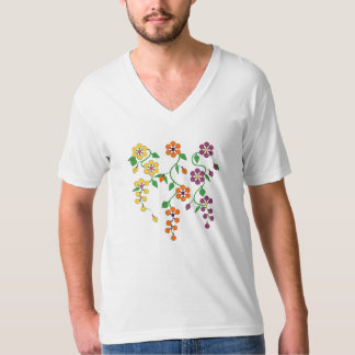 Pattern NO.2: Hanging Flowers Design V-Neck Tee