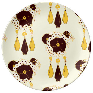 Pattern NO.3: Abstract Floral Porcelain Plate