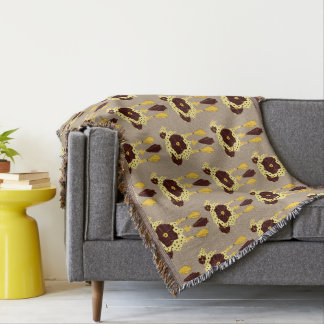 Pattern NO.3: Abstract Floral Print Throw Blanket