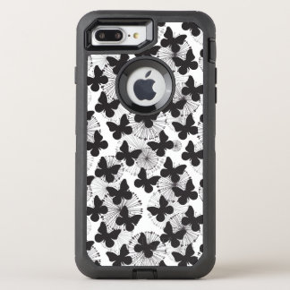 pattern of a butterfly OtterBox defender iPhone 7 plus case