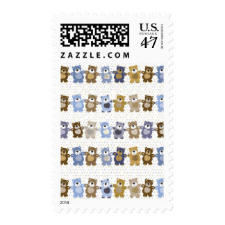 pattern of a toy teddy bear postage stamp