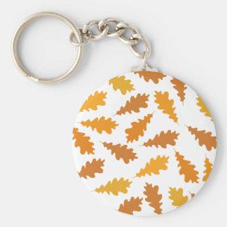 Pattern of Autumn Leaves. Basic Round Button Keychain