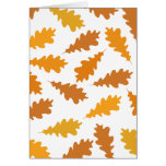 Pattern of Autumn Leaves. Card