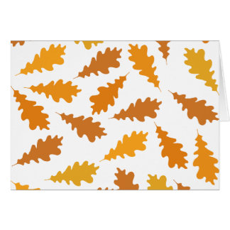 Pattern of Autumn Leaves. Cards