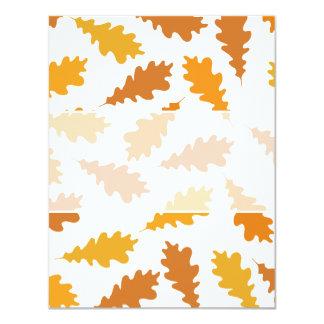 Pattern of Autumn Leaves. Custom Invitations