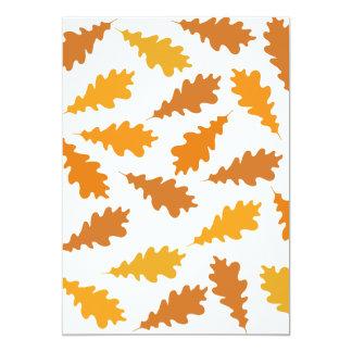 Pattern of Autumn Leaves. Custom Invites