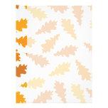 Pattern of Autumn Leaves. Customized Letterhead