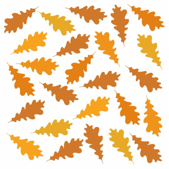 Pattern of Autumn Leaves. Cutout