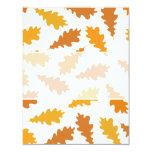 "Pattern of Autumn Leaves. 4.25"" X 5.5"" Invitation Card"