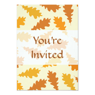 Pattern of Autumn Leaves. Personalized Announcement