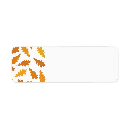 Pattern of Autumn Leaves. Label