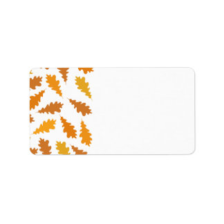 Pattern of Autumn Leaves. Personalized Address Labels