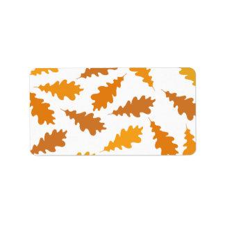 Pattern of Autumn Leaves. Address Label
