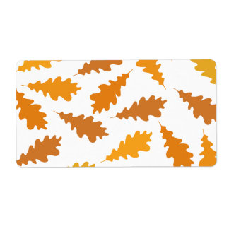 Pattern of Autumn Leaves. Shipping Label