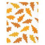 Pattern of Autumn Leaves. Letterhead Template