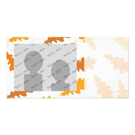 Pattern of Autumn Leaves. Photo Card