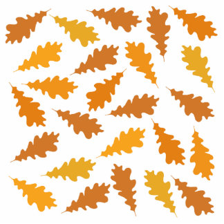 Pattern of Autumn Leaves. Photo Sculpture Button