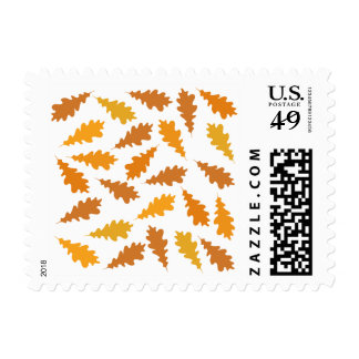 Pattern of Autumn Leaves. Stamp