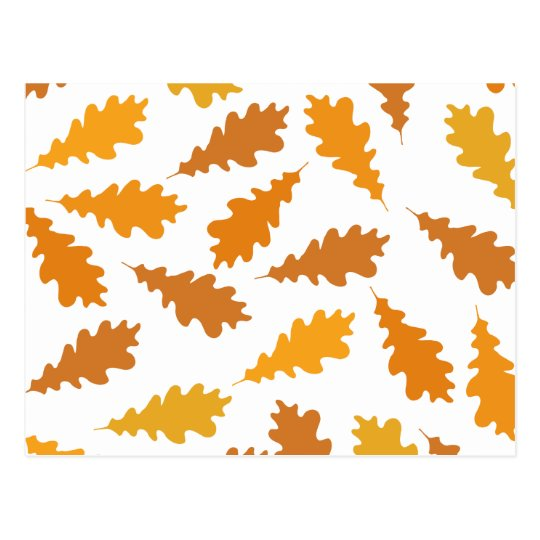 Pattern of Autumn Leaves. Postcard