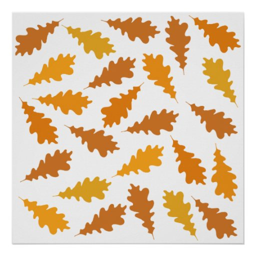 Pattern of Autumn Leaves. Posters