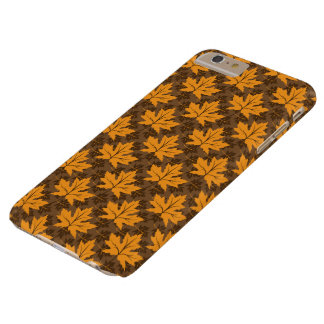 Pattern of autumn orange brown maple leaves barely there iPhone 6 plus case