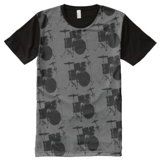 pattern of black-drums stylish All-Over-Print shirt