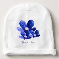 Pattern of Blue Flowers Baby Beanie