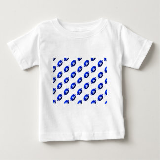 Pattern of Blue Footballs Baby T-Shirt