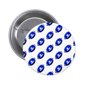 Pattern of Blue Footballs Button