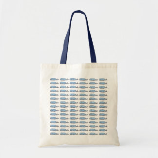 pattern of blue whales tote bag
