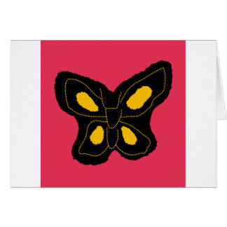 Pattern of butterfly made of cut paper card