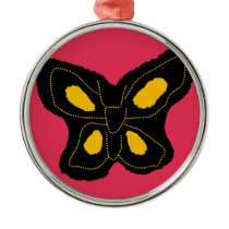 Pattern of butterfly made of cut paper metal ornament