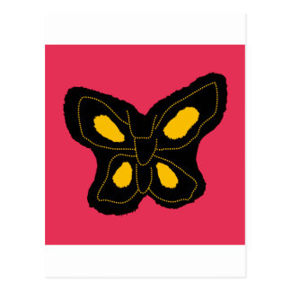 Pattern of butterfly made of cut paper postcard