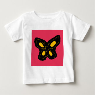 Pattern of butterfly made of cut paper t-shirt