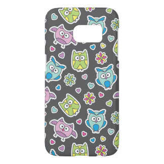 pattern of cartoon owls samsung galaxy s7 case