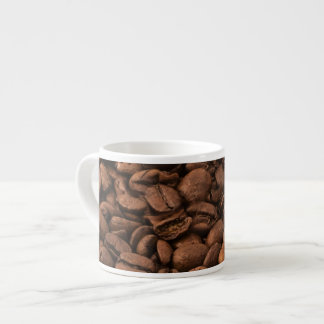 Pattern Of Coffee Beans, Roasted Coffee - Brown Espresso Cup