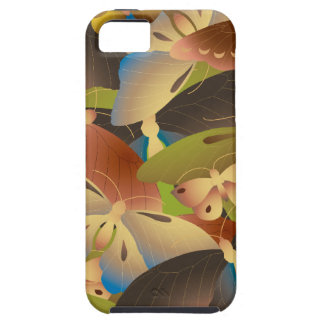 Pattern of colorful butterflies overlap a lot iPhone 5 case