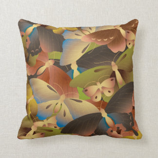 Pattern of colorful butterflies overlap a lot pillow