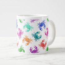 Pattern Of Crabs Large Coffee Mug