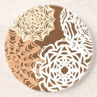 Pattern of cut paper coaster