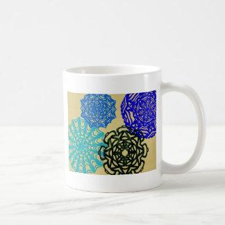 Pattern of cut paper coffee mug