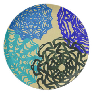Pattern of cut paper party plates